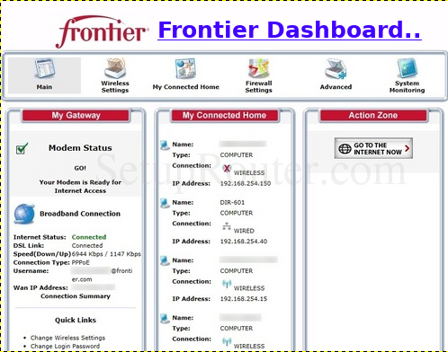 Frontier Mail Login Dashboard