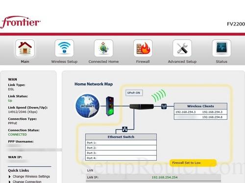 Frontier login