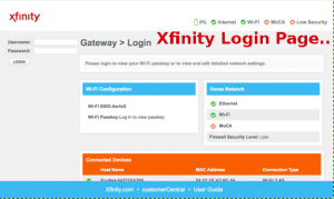 Xfinity-and-Comcast-Login-Page