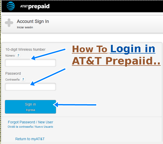 at&t prepaid login to my account