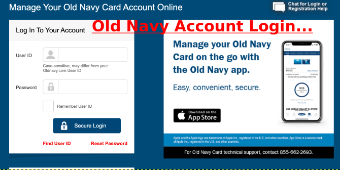 Old Navy Account Login