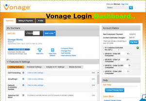 Vonage Login Dashboard