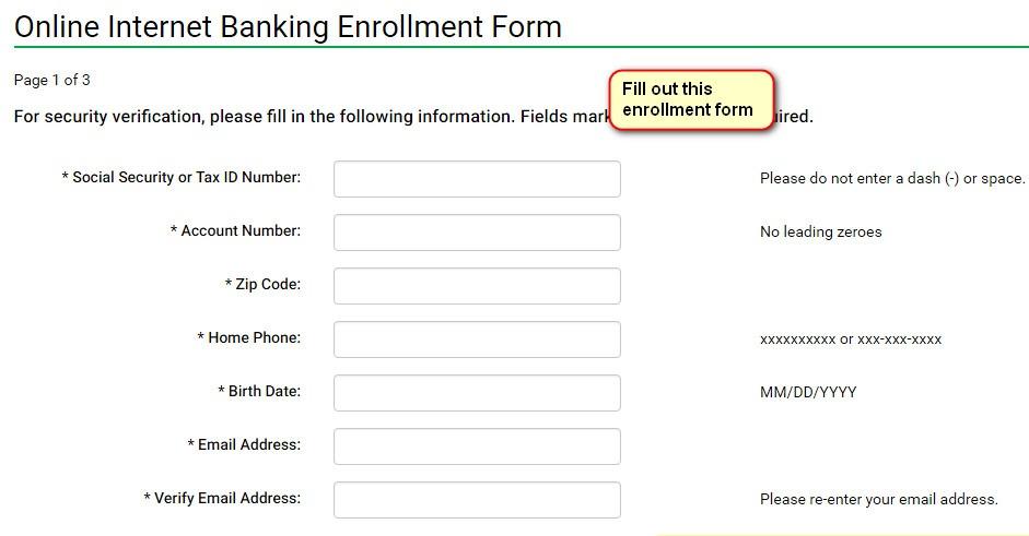 WESBANCO signup enrollment form