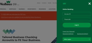 wesbanco bank online banking login