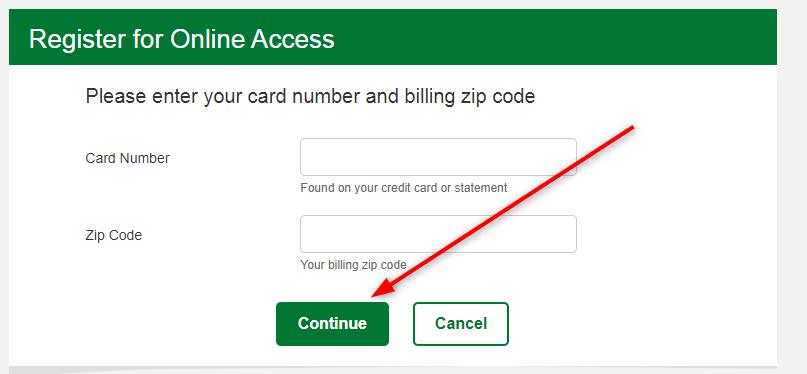 mybpCreditcard registration signup process