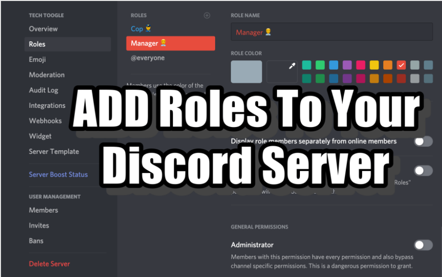Discord add or assign role