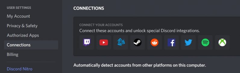 Discord connect any applications