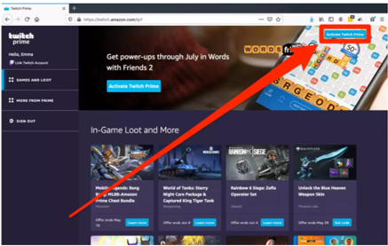 How to Connect Amazon prime to Twitch