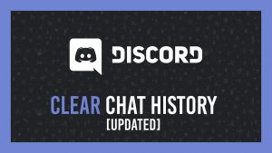Discord clear chat history