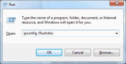 Flush your DNS cache