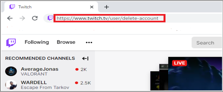 How to remove account