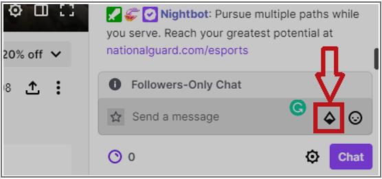 Twitch chatbox diamond icon