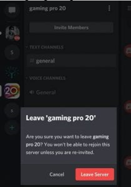 leave How to leave Discord server on mobile
