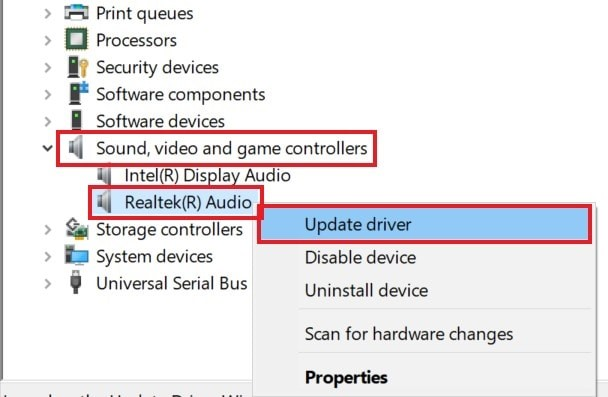 Update your PC audio driver for no sound issue error