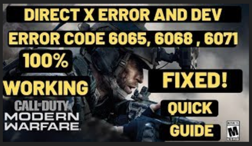 How to Fix Dev Error 6068, 6178, and 6065 in COD Modern Warfare