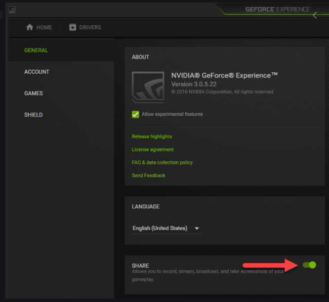 GeForce Experience Application in game overlay for dev error 6068 solution