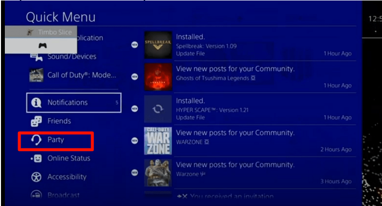 Join a PS 4 Party Chat from your PC