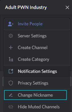 Change discord nickname from Account Settings