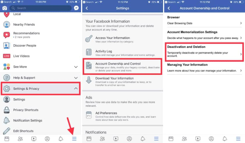 Deactivate your Facebook account for sometime