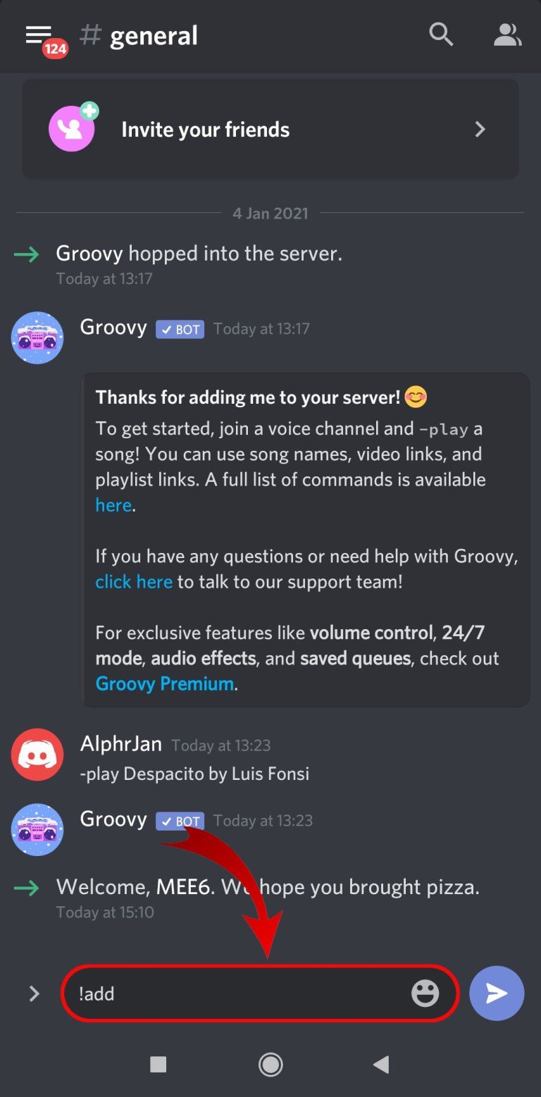 How to play music in Discord on Android
